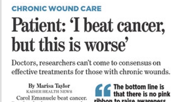 While scientists struggle to come up with treatments for diabetic foot ulcers, patients with chronic wounds are dying @khnews